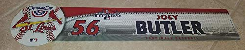 (2013 OPENING DAY N.L. CHAMPIONS JOEY BUTLER STL CARDINALS LOCKER ROOM NAME PLATE)