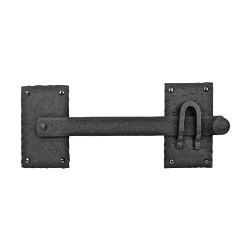 Fence Gate Latch Lock Black Wrought Iron Gate Latch 12 Inch | Renovator's Supply