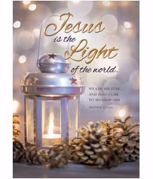 Card-Boxed-Jesus Is The Light Christmas (Matthew 2:2 NIV) (Box Of 12) (Jesus Boxed Christmas Cards)