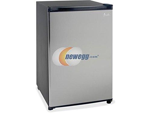 Avanti - 4.4 CF Counterhigh Refrigerator - Black w/Stainless Steel Door