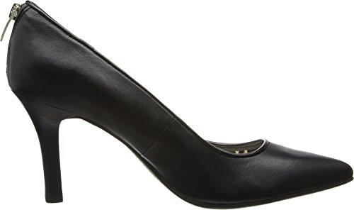 Anne Klein AK Womens Falicia Leather Dress Pump Black