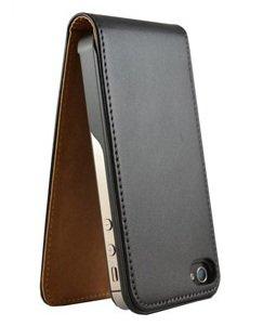 avci Base 4260310640006Étui à rabat pour Apple iPhone 4/4S Noir
