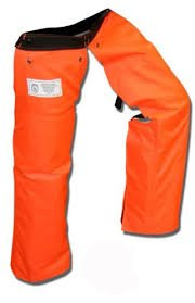 Forester Chainsaw Safety Chaps with Pocket, Apron Style (Long 40'', Orange) by Forester (Image #1)