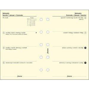 UPC 757286011748, Filofax Calendar Refills 2011 Week On Two Pages- Cotton Cream Mini Size - FF-6812411
