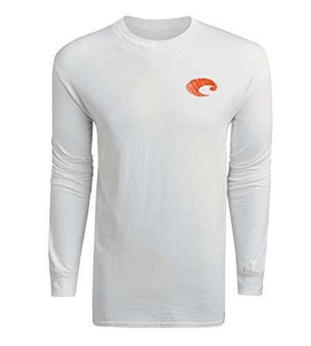 Edge T-shirt Logo - Costa Del Mar L/S Realtree Edge Logo T-Shirt, White, 2X