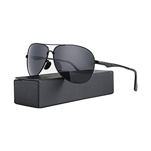 Aviator Sunglasses for Men Polarized, Classic Military Style Glasses with 100% UV400 Protection for Driving Fishing Outdoor Activity, Premium Anti Scratch Alloy Frame with Elegant Glasses ()