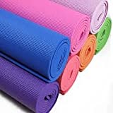 Hanumex Yoga Mat for Exercise and Meditation, 6mm ,Multicolor