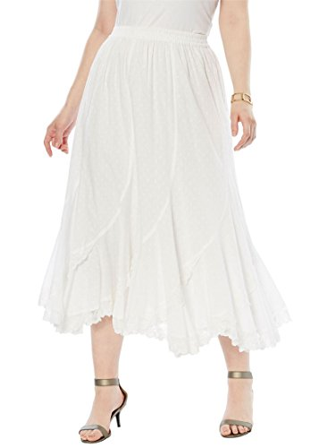 20w Skirt - Women's Plus Size French Skirt White,20 W