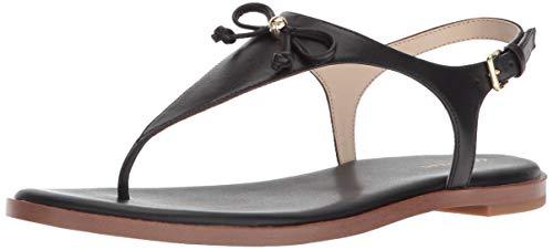 Cole Haan Womens Findra Thong Sandal II Black Leather 8 B - Medium