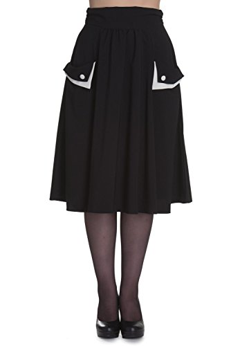 Hell Bunny Sonia Rockabilly 1950's Skirt - Black (Bunny Skirt)