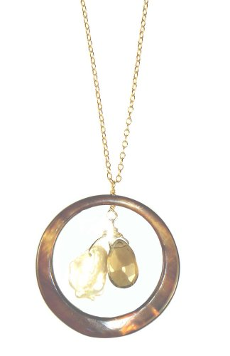 Mother of Pearl Gem Hoop, 18IN - Mother Of Pearl Goddess Pendant