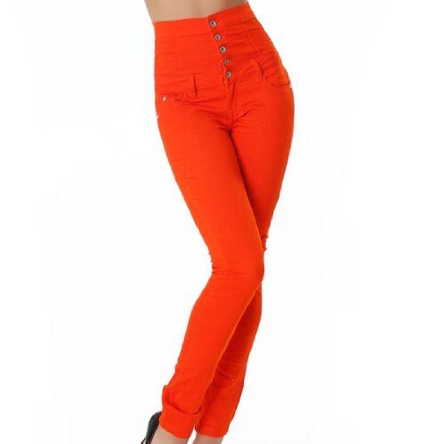 Mujer Orange Básico Jeans Ajustada Para Noname Vaqueros Brilliant wqTBaWX