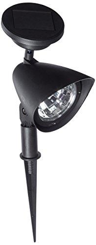 GSL SS-GSL-SS92 Set of 2 Black Plastic 3 LED Solar Spot L...
