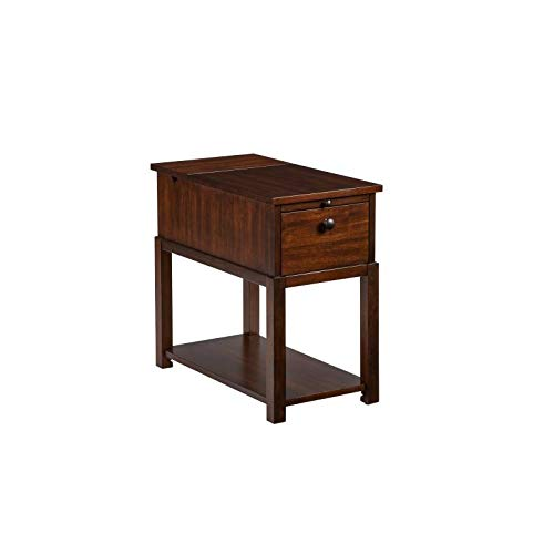 (Progressive Furniture T400-65 II Chairside Table, Brown)