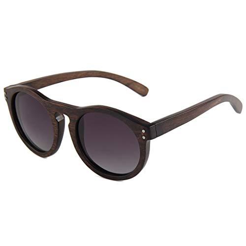 3d62130b4e Gafas sol Madera Naturales Gafas Redondas Retro Unisex con Lentes  polarizadas y Resistentes a los Rayos