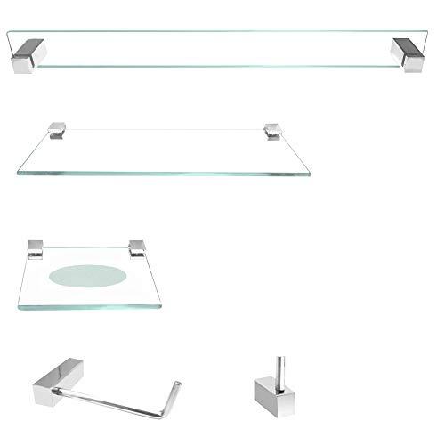 Conjunto de acessórios para banheiro Prátika Slim 5 peças