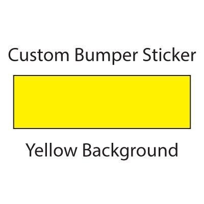 WYCO Products Custom Bumper Sticker Customizable Bumper Sticker (5