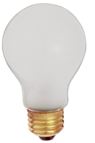 2 Pack Incandescent Light Bulb (Satco S3927 60 Watt 520 Lumens A19 Incandescent Rough Service Shatterproof Light Bulb, 2-Pack)