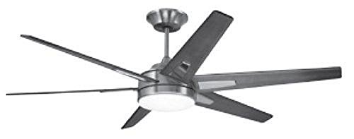 Emerson CF915W60BS 60-inch Modern Rah Eco Ceiling Fan, 6-Blade Ceiling Fan with LED Lighting and 6-Speed Wall ()
