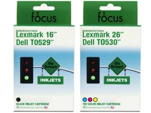 Take4Less 2-Pack (B+C) T0529 T0530 DELL Remanufactured Color Ink Cartridge for Dell printer A920 720