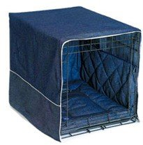 30″ Denim Pet Wire Crate Cover Set Bed Bumper Pad, My Pet Supplies