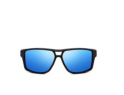 de lunettes Verres polarisées hommes de Cadre soleil E Lunettes rectangulaire Spaqgawn