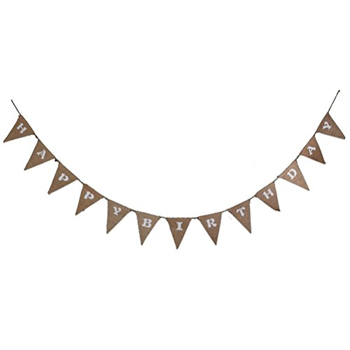 TINKSKY BIRTHDAY Hessian Birthday Decoration