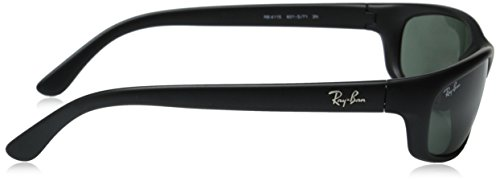 Ray-Ban Sunglasses - RB4115 / Frame: Matte Black Lens: Grey Green by Ray-Ban (Image #3)