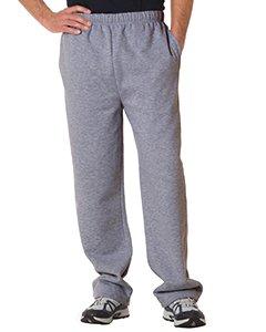 Badger Adult Blended Open-Bottom Fleece Pants (Oxford) (Large)