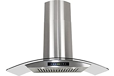 "Golden Vantage Stainless Steel 30"" Euro Style Wall Mount Range Hood Led Screen Touch Control"
