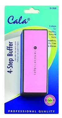 Cala Product 4 Step Nail Buffer Nail Buff: Smooth Buff File Shine 70-268B