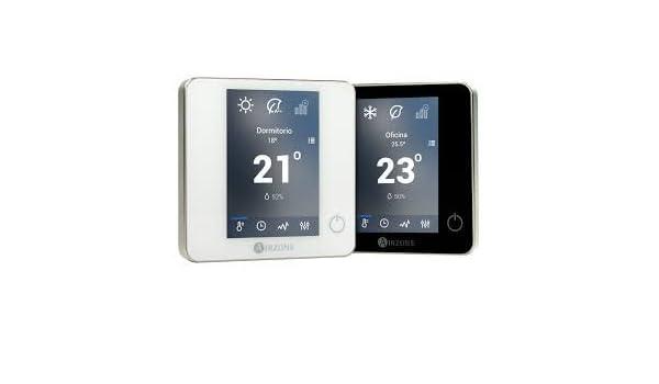 Airzone AZCE6BLUEFACECN - Termostato inteligente blueface 8z negro: Amazon.es: Bricolaje y herramientas