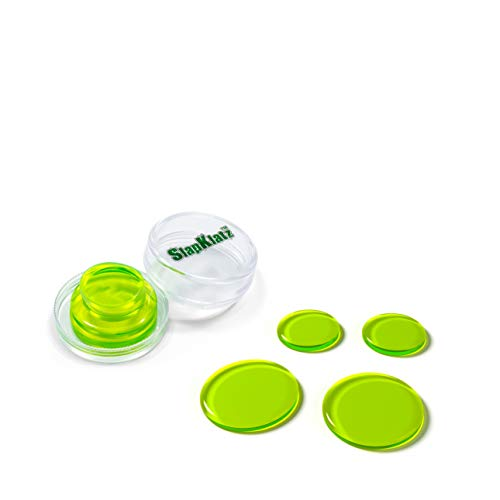 Jelly Moon (SlapKlatz - Drum Damper Gel Pads, 4 Pack - Alien Green)