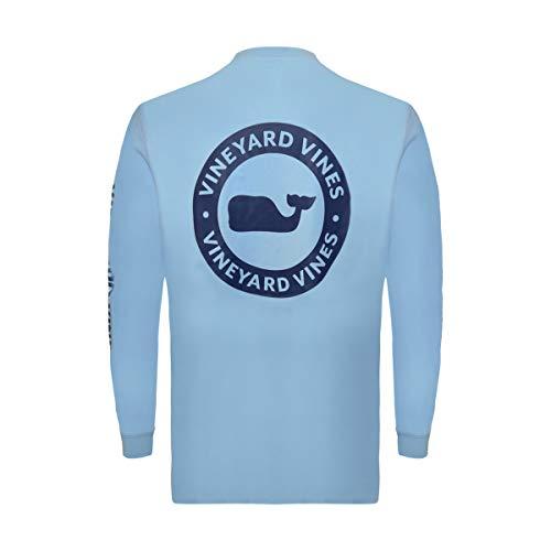 Vineyard Vines Mens Cotton Graphic T-Shirt (Small, Whale Dot Circle Air Blue)