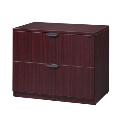 (Legacy 2-Drawer Laminate File Finish: Mahogany)
