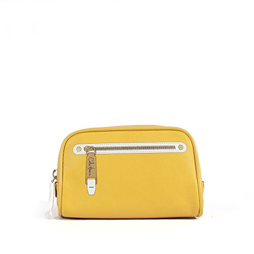 Cole Haan Item Group Cosmetic Case, Golden Yellow