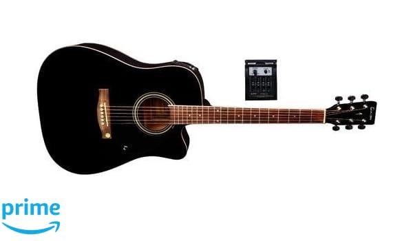 Tenson F501326 - Guitarra electro-acústica D-10CE, color negro: Amazon.es: Instrumentos musicales