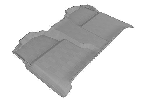 Sierra Model - 3D MAXpider L1CH04721501 Second Row Custom Fit All-Weather Floor Mat for Select Chevrolet Silverado/GMC Sierra Models - Kagu Rubber (Gray)