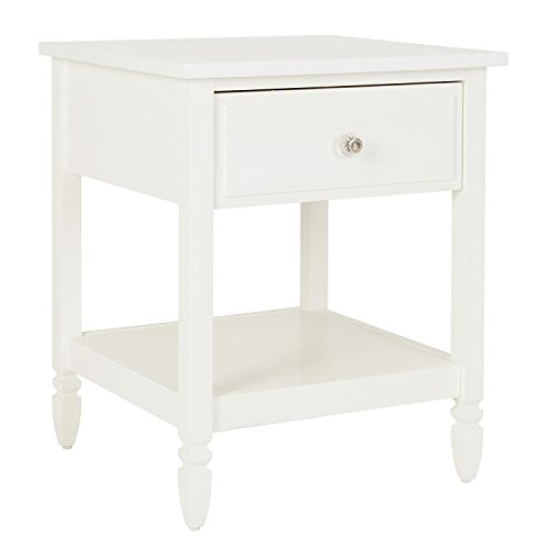 Dorel Living Vivienne Nightstand, White by Dorel Living