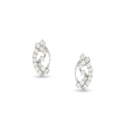 Tousmesbijoux Boucles d'oreilles Or blanc 375/00 et diamants