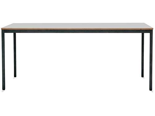 Mesa Modular M1 con Estructura Gris M y Tablero Perlado (1,9 x 90 ...
