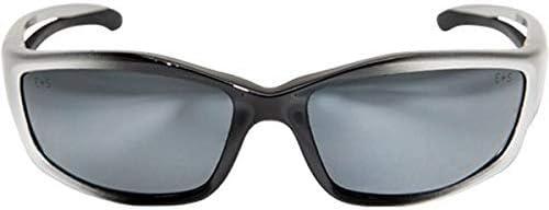 Edge Eyewear Kazbek Safety//Sun Glasses Silver Mirror Lens Ballistic SK117 Z87.1