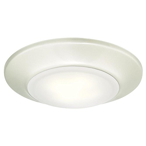 Westinghouse Lighting 6321900 Small LED Indoor/Outdoor Dimmable Surface Mount Wet Location, Brushed Nickel Finish with Frosted Lens,