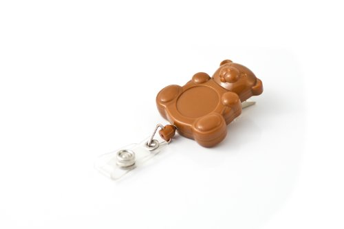 Key-Bak RETRACT-A-BADGE Teddy Bear Shaped 5-Pack Retractable Badge Holder with 36