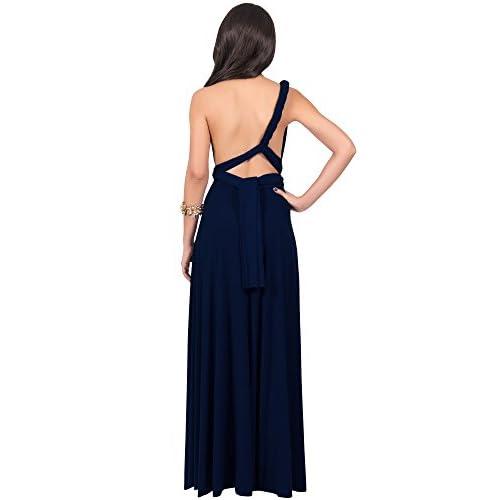 Koh Koh Womens Long Bridesmaid One Shoulder Convertible Wrap