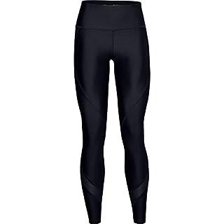 Under Armour Women's HeatGear Armour WordMark Leggings , Black (001)/Jet Gray , Large