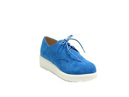 Gomma In Con Eco Polacchine Stringate Bluette Justglam Platform camoscio Donna Scarpe n0PxRWWIz
