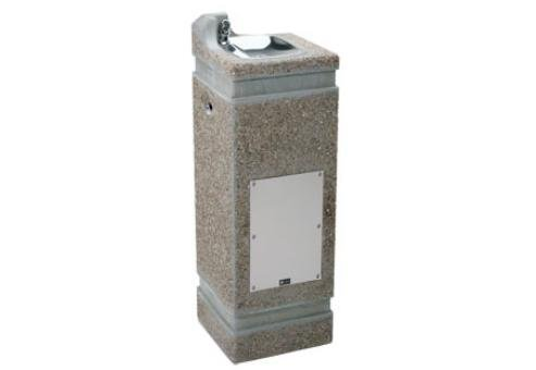 (Haws 3121FR, Freeze-Resistant Optional, Square Vibra-Cast Reinforced Concrete Pedestal Drinking Fountain (Includes required freeze resistant valve MOD#6518FR))