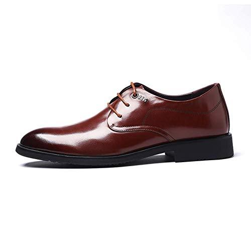 uomo da HhGold uomo comode uomo Marrone in scarpe UK in pizzo Scarpe da Dimensione Colore Marrone 9 8 pelle US da qqYXr8