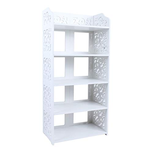 Storage Rack Simple Shelf 5 Layers Wooden Carved Flower Shoe Rack Shoe Cabinet Balcony Aisle